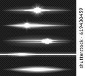 white horizontal lens flares... | Shutterstock .eps vector #619430459