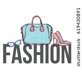 stylish things on the...   Shutterstock .eps vector #619430891