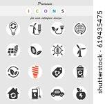 alternative energy web icons... | Shutterstock .eps vector #619435475