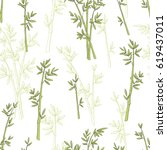 bamboo plant graphic green... | Shutterstock .eps vector #619437011
