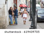 valladolid  mexico   mar 14 ... | Shutterstock . vector #619439705