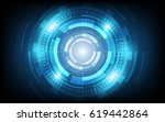 circle blue abstract technology ... | Shutterstock .eps vector #619442864