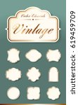 set of high quality vintage... | Shutterstock .eps vector #619459709