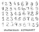 grunge hand drawn numbers....   Shutterstock .eps vector #619464497