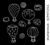 set of balloon. | Shutterstock .eps vector #619471511