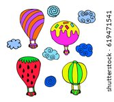 set of balloon. | Shutterstock .eps vector #619471541
