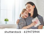 happy mother's day  child... | Shutterstock . vector #619473944