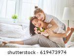 happy mother's day  child... | Shutterstock . vector #619473974