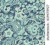 floral seamless pattern with... | Shutterstock .eps vector #619475927