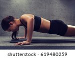 fitness  sport  people and... | Shutterstock . vector #619480259