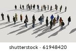 two groups of people | Shutterstock . vector #61948420