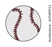 baseball ball icon image  | Shutterstock .eps vector #619489511