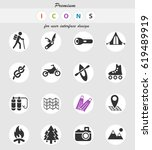 active recreation web icons for ... | Shutterstock .eps vector #619489919