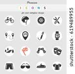 bicycle web icons for user... | Shutterstock .eps vector #619489955