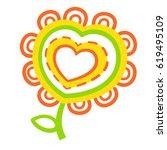 fabulous flower  heartfelt... | Shutterstock .eps vector #619495109