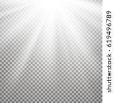 light effect on transparent... | Shutterstock . vector #619496789