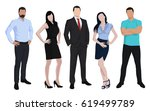 business people  men and women... | Shutterstock .eps vector #619499789