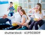 family watching comedy | Shutterstock . vector #619503839