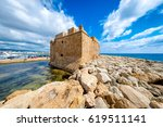 fort at paphos harbour. cyprus | Shutterstock . vector #619511141