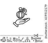 web line icon. perfume bottle...   Shutterstock .eps vector #619512179