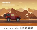 travel camper outdoor with... | Shutterstock .eps vector #619515731