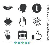 hand icons. like thumb up... | Shutterstock .eps vector #619517321