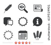 agricultural icons. gluten free ... | Shutterstock .eps vector #619519901