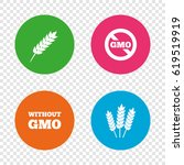 agricultural icons. gluten free ... | Shutterstock .eps vector #619519919