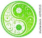 floral yin yang symbol  symbol...   Shutterstock .eps vector #61952515