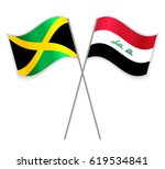 jamaican and iraqi crossed... | Shutterstock .eps vector #619534841
