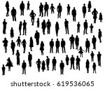 silhouette people men women... | Shutterstock .eps vector #619536065