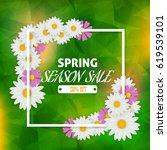 spring sale theme background.... | Shutterstock .eps vector #619539101