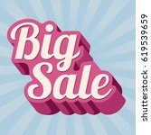 big sale banner. vector... | Shutterstock .eps vector #619539659
