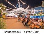 bokeh background of street bar... | Shutterstock . vector #619540184