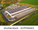 aerial view of goods warehouse. ... | Shutterstock . vector #619546661