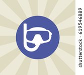 snorkel icon. sign design.... | Shutterstock .eps vector #619546889