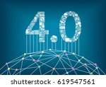 industry 4.0 and industrial... | Shutterstock .eps vector #619547561