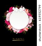elegance flowers frame of color ... | Shutterstock .eps vector #619552799