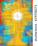 eucharistic monstrance for...   Shutterstock . vector #619558271
