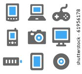 electronics web icons  blue and ... | Shutterstock .eps vector #61956178