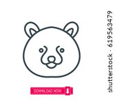 bear face icon  vector | Shutterstock .eps vector #619563479