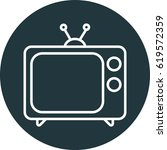 tv icon  television vector icon | Shutterstock .eps vector #619572359