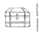 vintage chest  vintage... | Shutterstock .eps vector #619577294