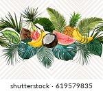 vector seamless vintage... | Shutterstock .eps vector #619579835