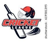 vector logo for cricket game... | Shutterstock .eps vector #619581395