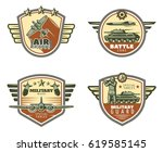 colored vintage military... | Shutterstock .eps vector #619585145