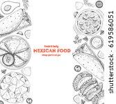 mexican food menu design... | Shutterstock .eps vector #619586051