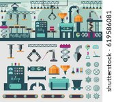 factory interior concept with... | Shutterstock .eps vector #619586081