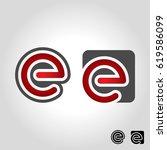 letter e logo | Shutterstock .eps vector #619586099