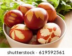 Easter Eggs Dyed With Onion...